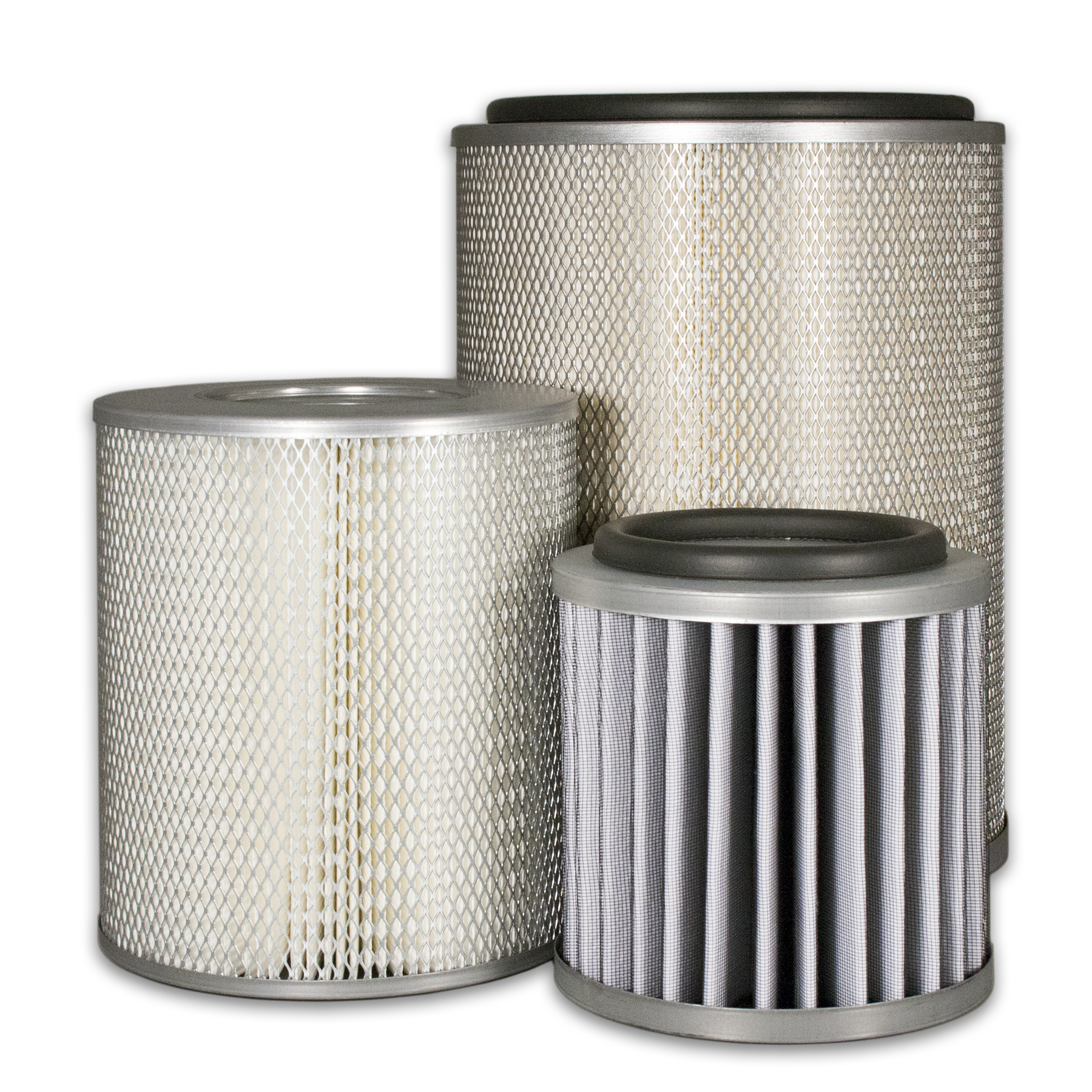Industrial metal end cap filters from Sidco Filter to replace shawndra sparks, CONAIR, Consler Graver, Dollinger, Endustra, NY Blower, Sunshine filter elements.